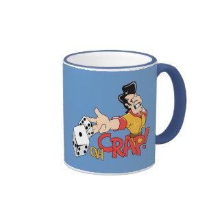 Oh Crap - Craps Table - Dice Game Humor Ringer Coffee Mug