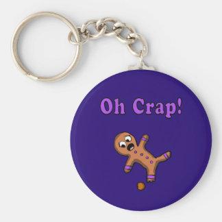 Oh Crap Gingerbread Man Key Ring