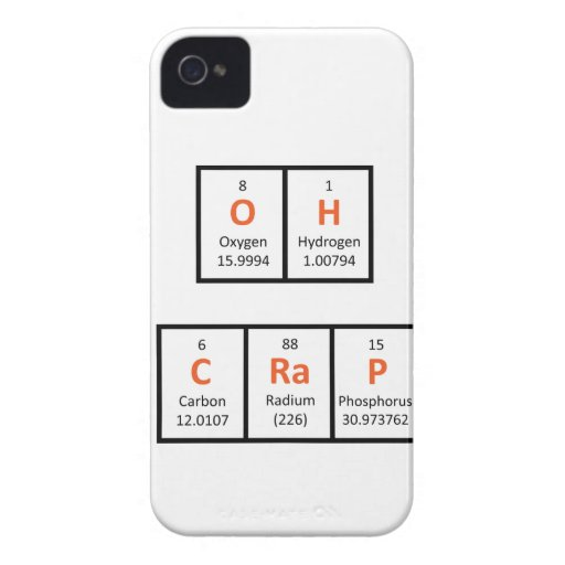 Oh Crap Periodic Table Case Case-Mate Blackberry Case