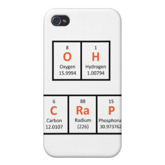 Oh Crap Periodic Table Case Case For iPhone 4