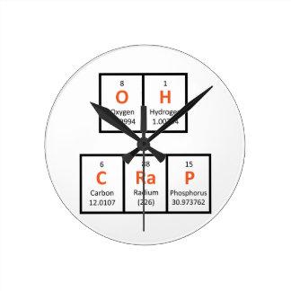 Oh Crap Periodic Table Wall Clock