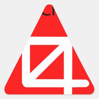 oh crop triangle sticker