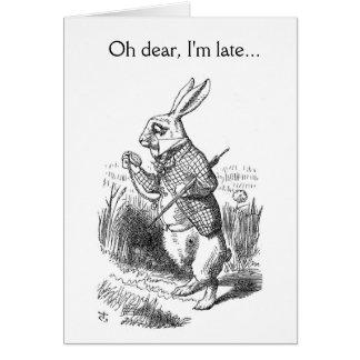 Oh dear, I'm late... Card