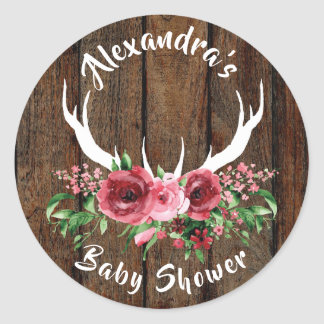 Oh Deer Baby Shower Favor Sticker