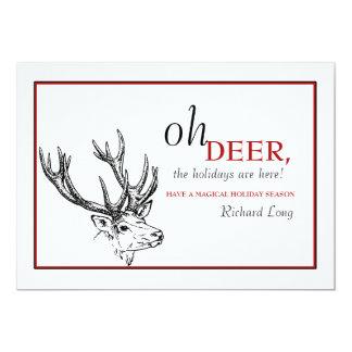 Oh Deer Holiday Card 13 Cm X 18 Cm Invitation Card