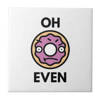 Oh Donut Even Small Square Tile