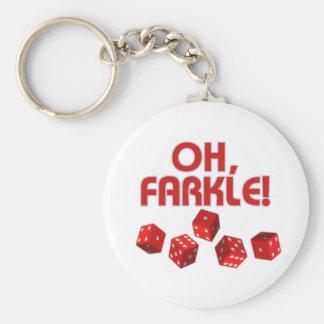 Oh, Farkle! Basic Round Button Key Ring