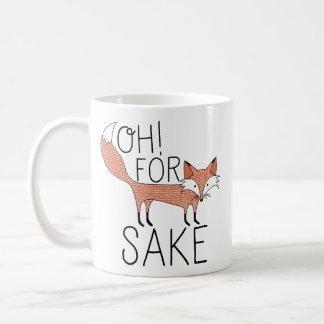 Oh! For Fox Sake Basic White Mug