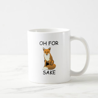 Oh For Fox Sake Basic White Mug