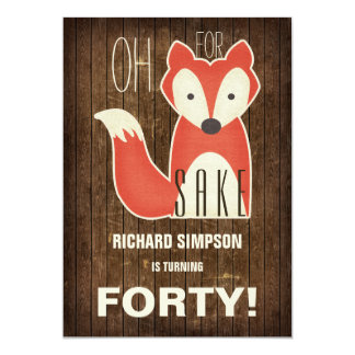 Oh, For Fox Sake Birthday Party 13 Cm X 18 Cm Invitation Card