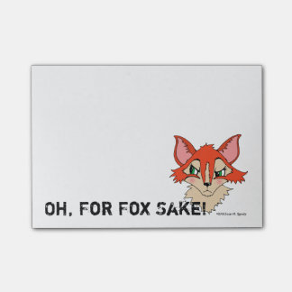 Oh for Fox Sake Cute Red Orange Foxy Post-it Notes