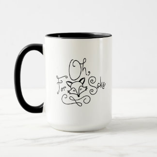 """Oh For Fox Sake"" Doodle Mug"