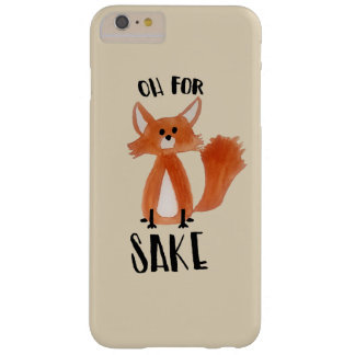 """""""Oh for Fox Sake!"""" Phonecase with Fox Illustration Barely There iPhone 6 Plus Case"""