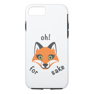Oh! For Fox Sake phrase Emoji cartoon iPhone 8/7 Case