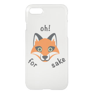 Oh! For Fox Sake phrase Emoji cartoon iPhone 8/7 Case