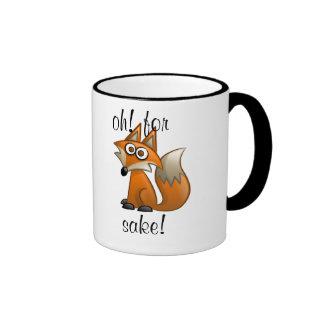 """oh for """"fox""""sake ringer mug"""