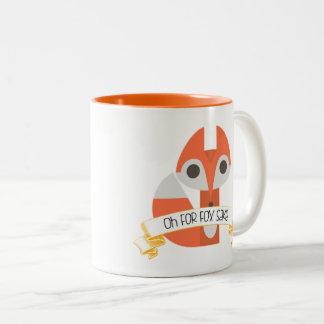 Oh For Fox Sake Two-Tone Coffee Mug