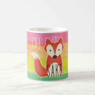 Oh For Fox Sake Watercolor Stripes Coffee Mug