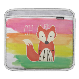 Oh For Fox Sake Watercolor Stripes iPad Sleeves