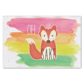 Oh For Fox Sake Watercolor Stripes Tissue Paper