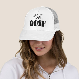 OH GOSH Typography OMG Quote Text Print Trucker Hat