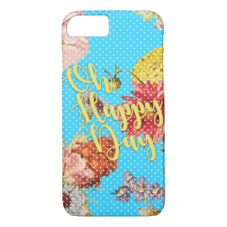 Oh Happy Day! - Blue iPhone 8/7 Case