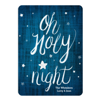 Oh Holy Night 5x7 Christmas Card 13 Cm X 18 Cm Invitation Card