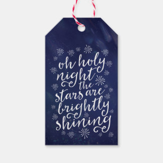 Oh Holy Night starry night Christmas gift tags