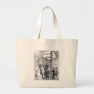 Oh, holy one. Religious playing basketball. Canvas Bag