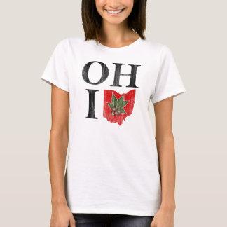 OH IO Typographic Ohio Vintage Red Buckeye Nut T-Shirt