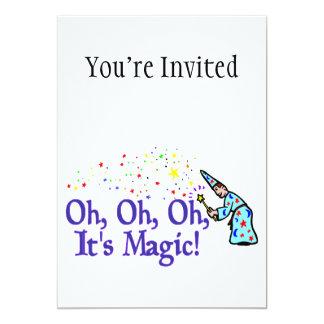 Oh It's Magic 13 Cm X 18 Cm Invitation Card