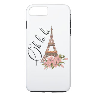 Oh La La | Eiffel Tower with Flowers Illustration iPhone 8 Plus/7 Plus Case