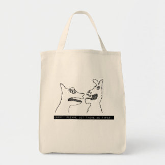 Oh Lordy 1975 label tape shopping bag