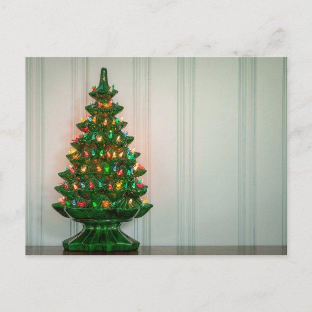 Oh Mid Century Modern Christmas Tree Holiday Postcard Zazzle Com Au