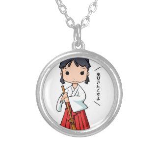 Oh! Miyako English story Omiya Saitama Yuru-chara Silver Plated Necklace