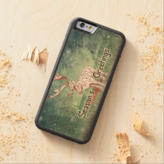 Oh My Deer~ Merry Christmas!   iPhone 6 Wood Case Carved® Maple iPhone 6 Bumper