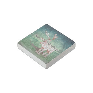 Oh My Deer~ Merry Christmas! | Marble stone Magnet
