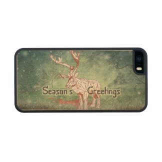 Oh My Deer~ Merry Xmas!   iPhone 5/5S Wood Cases Carved® Maple iPhone 5 Slim Case