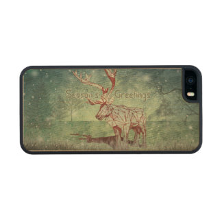 Oh My Deer~ Merry Xmas!   iPhone 5/5S Wood Cases Carved® Maple iPhone 5 Case