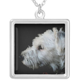 Oh My Dog! Square Pendant Necklace