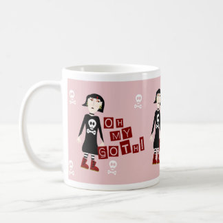Oh My Goth Girl Character Coffee Mug