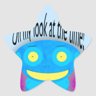 Oh my look at the time! star sticker