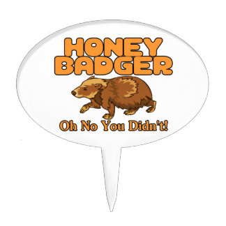Oh No Honey Badger Cake Pick