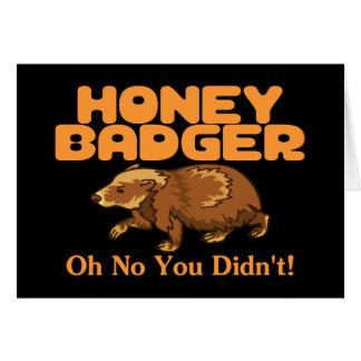 Oh No Honey Badger Greeting Card