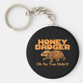 Oh No Honey Badger Key Ring
