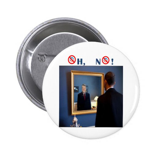 Oh No! Jimmy Carter, but faster! Pinback Button