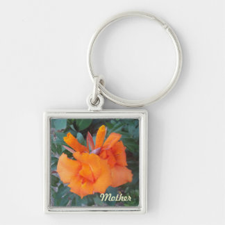 Oh Orange Custom Keychain Silver-Colored Square Keychain