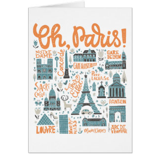 Oh, Paris! | Town Typography Card