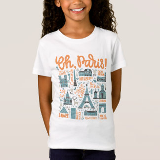 Oh, Paris! | Town Typography T-Shirt