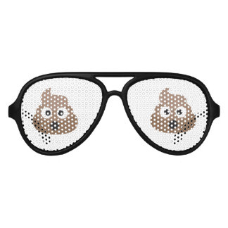 Oh Poo Emoji Aviator Sunglasses